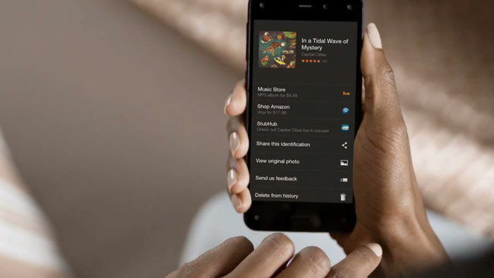 Buying a music album on the Amazon Fire Phone