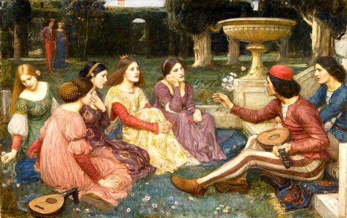 The Decameron by John Willian Waterhouse, 1916