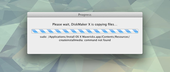 "Diskmaker X ""command not found"""