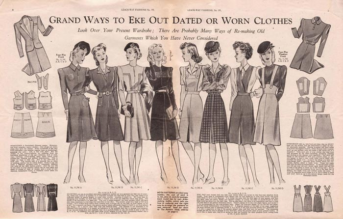 Make Do And Mend poster from the 1940s