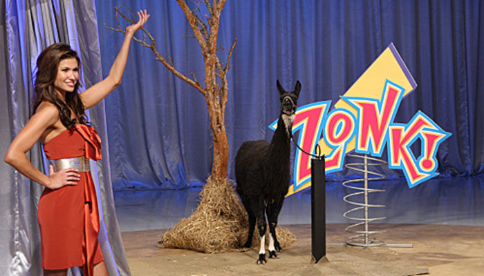 "A goat is revealed on ""Let's make a deal"""