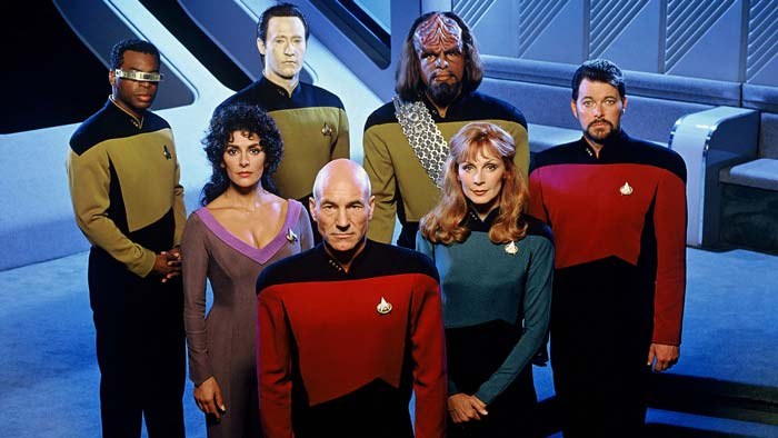 The main cast of Star Trek: The Next Generation